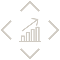 growing bar graph with arrow pointing upwards
